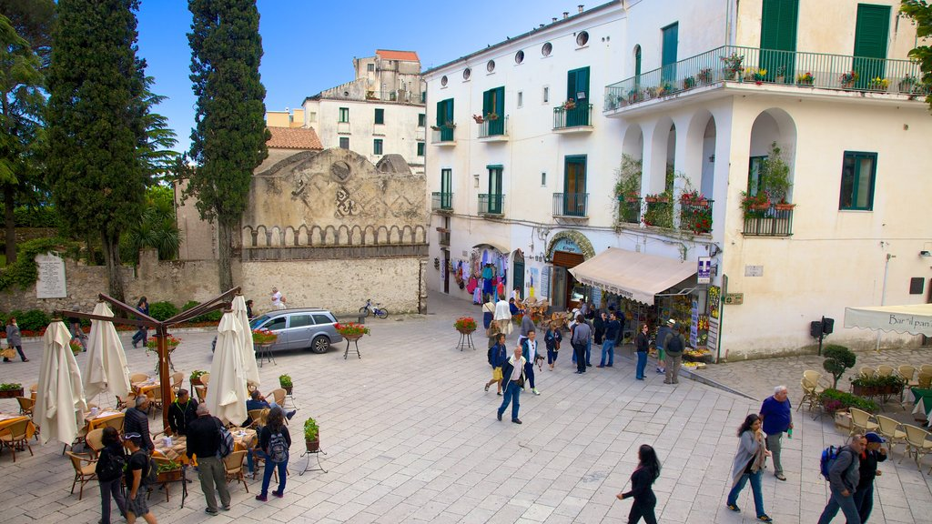 Ravello featuring a square or plaza as well as a large group of people