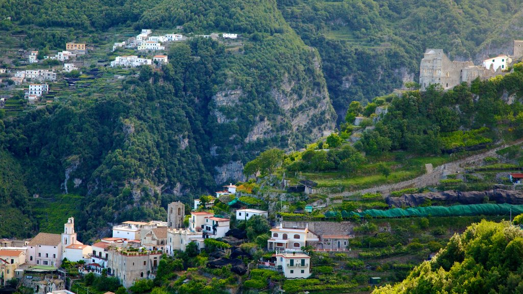 Ravello which includes mountains and a city