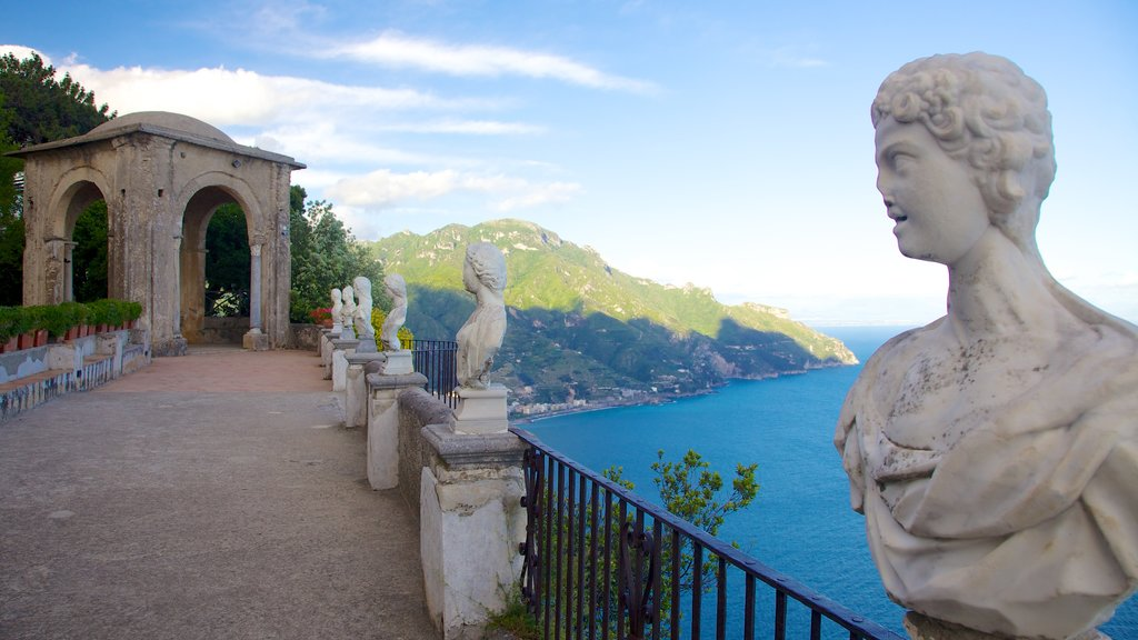 Ravello featuring general coastal views, heritage architecture and a statue or sculpture