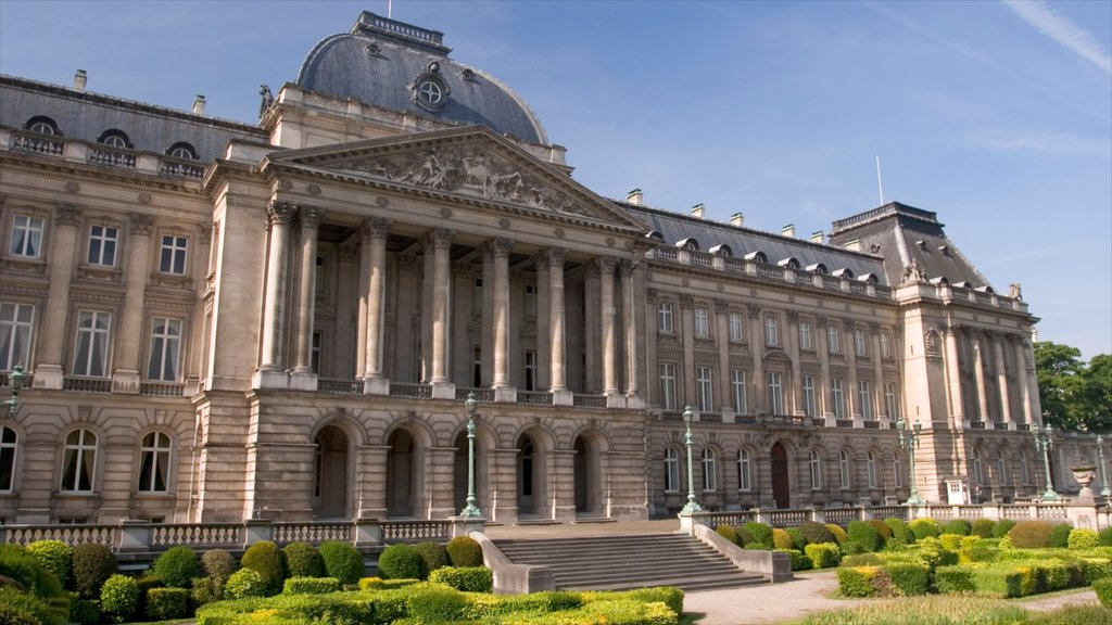 Royal Palace of Brussels featuring a castle and heritage architecture