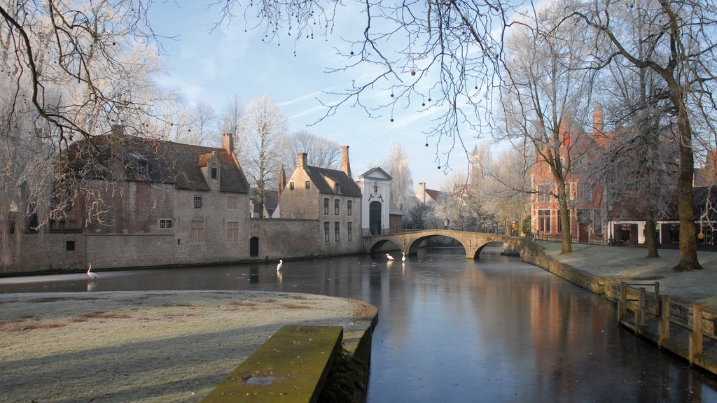 Begijnhof featuring a small town or village and a river or creek