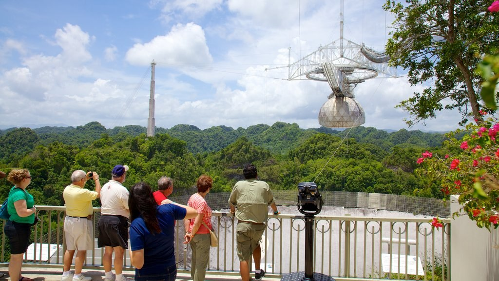 Observatorio de Arecibo ofreciendo vistas y un observatorio