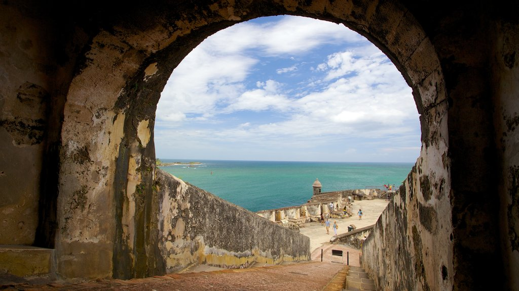 El Morro featuring general coastal views and heritage elements