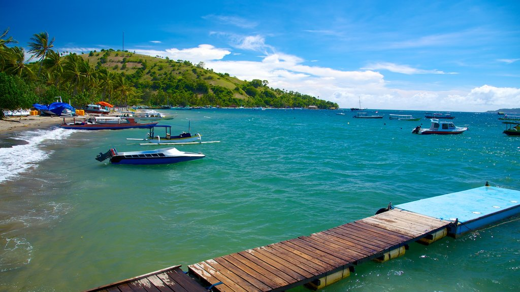 Gili Islands showing boating, general coastal views and tropical scenes
