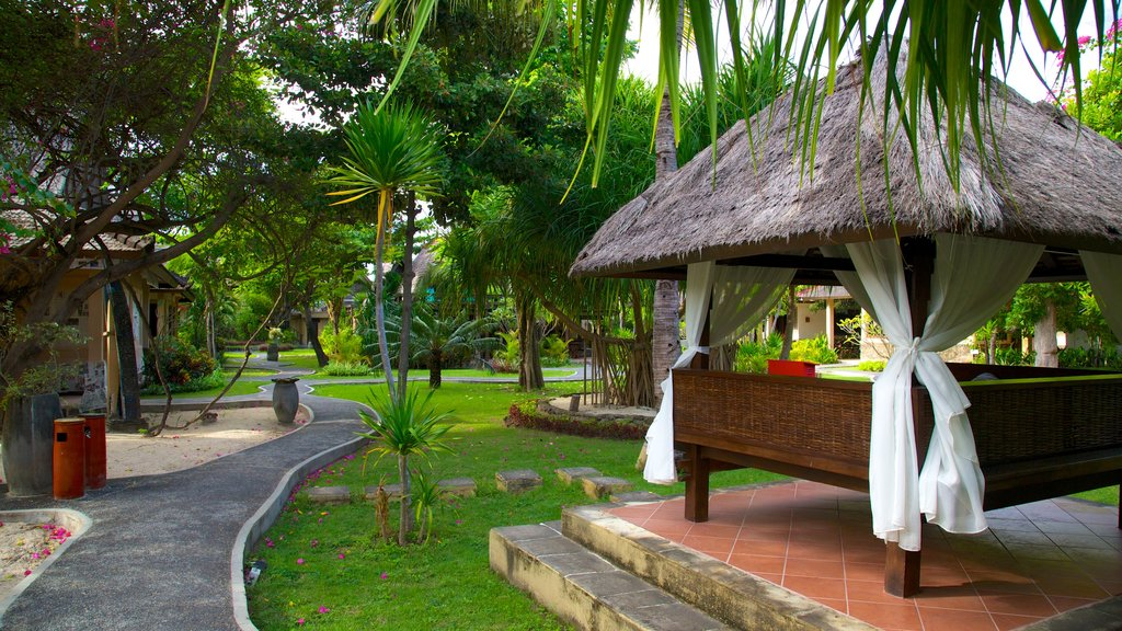 Gili Islands ofreciendo un hotel o resort de lujo y escenas tropicales