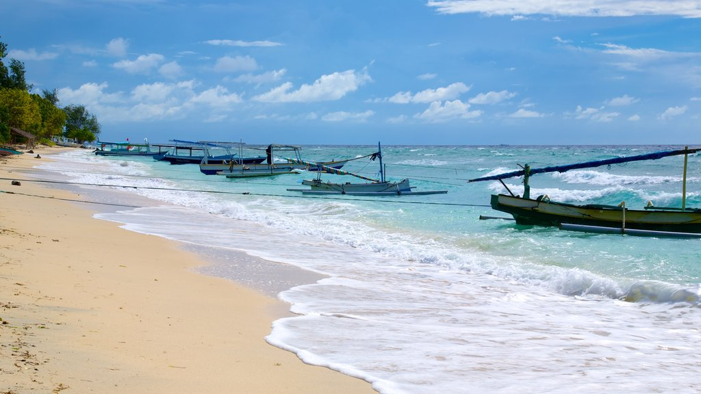 Gili Islands which includes a beach and boating