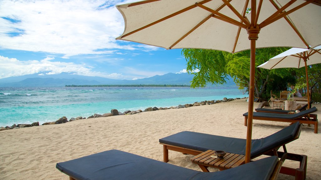 Gili Islands which includes a sandy beach