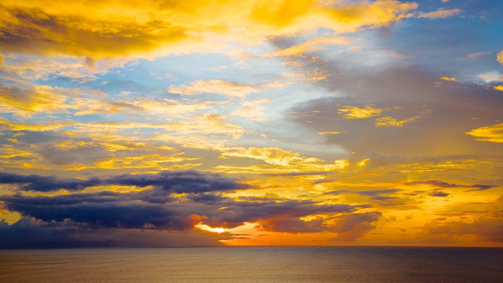 Senggigi showing a sunset and landscape views