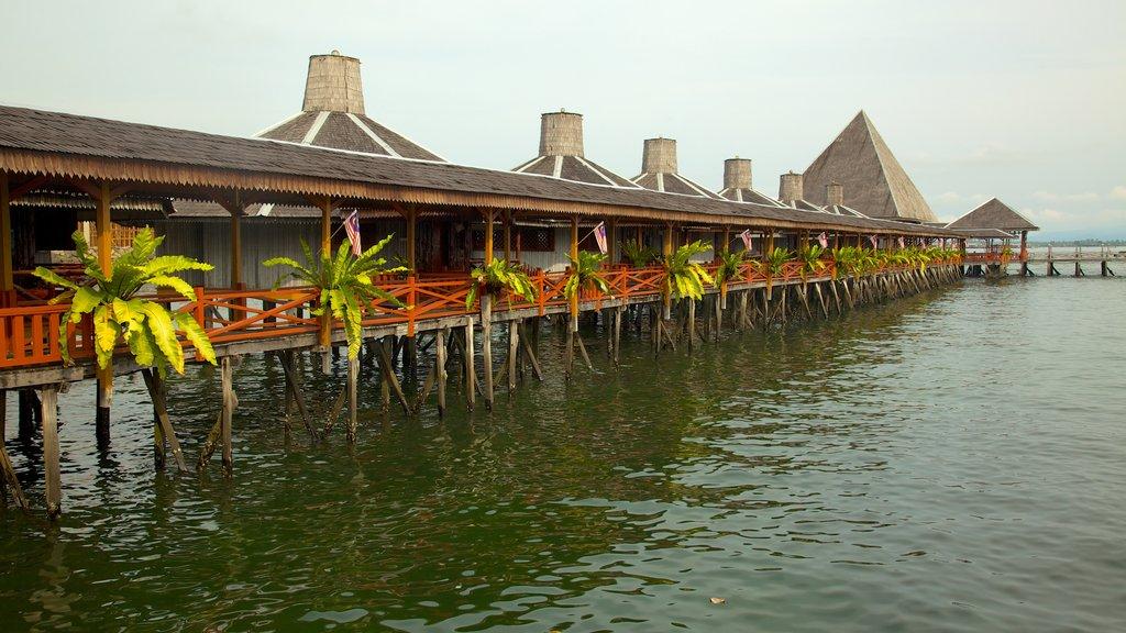Tun Sakaran Marine Park which includes a coastal town