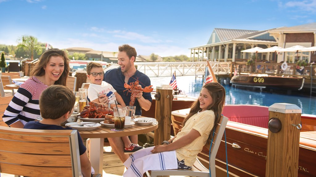 Disney Springs® which includes food and dining out as well as a family