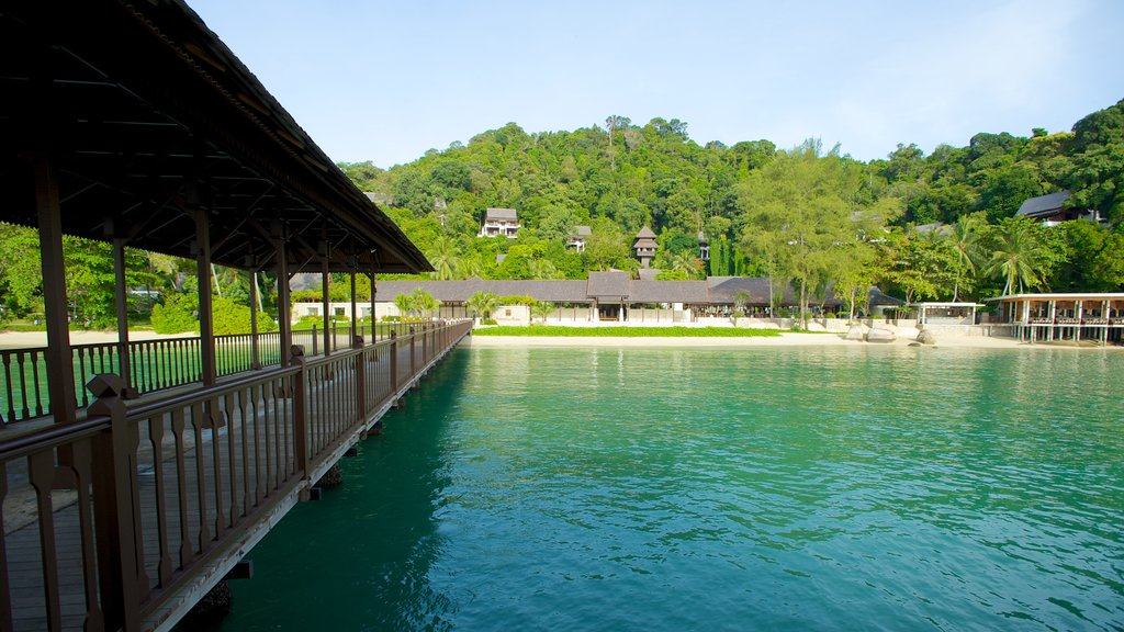 Pangkor Laut which includes general coastal views and a bridge