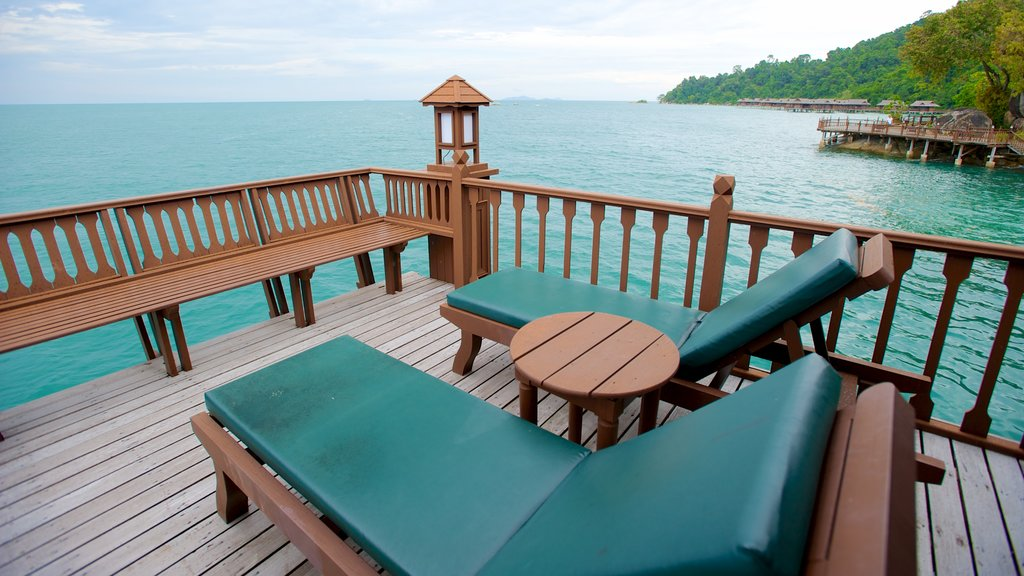 Pangkor Laut which includes a luxury hotel or resort and general coastal views