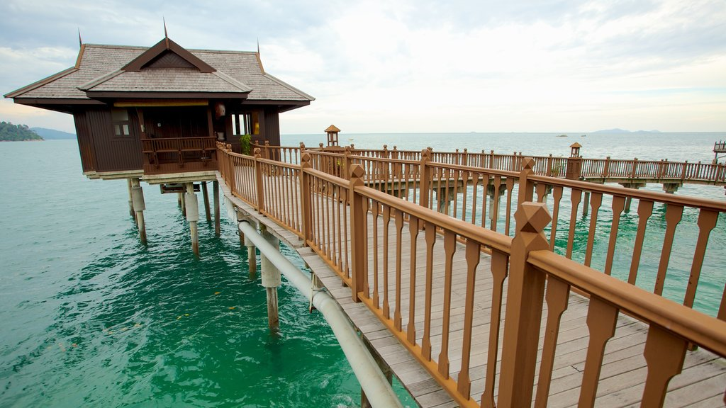 Pangkor Laut showing a luxury hotel or resort and general coastal views