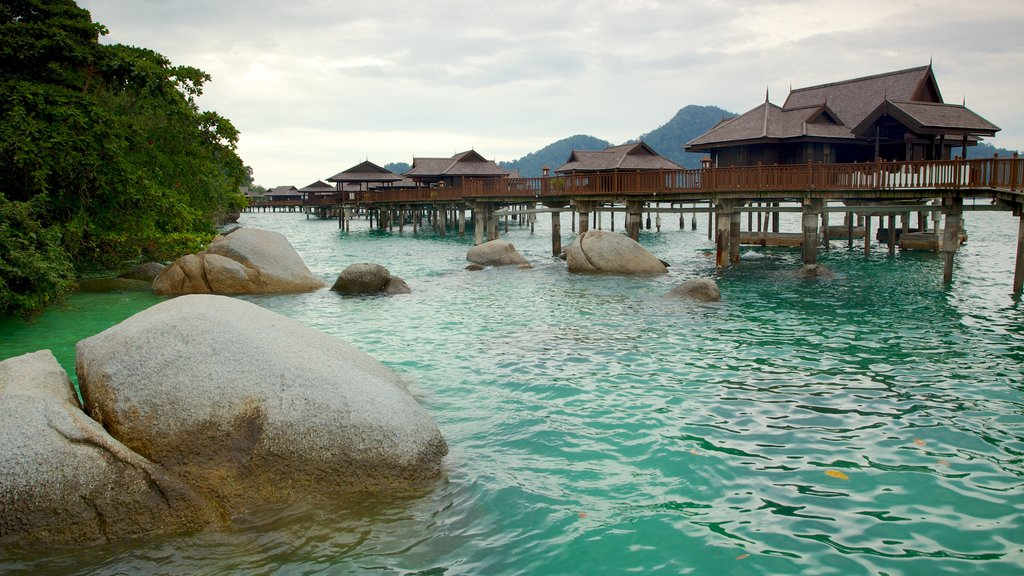 Pangkor Laut featuring a luxury hotel or resort, tropical scenes and general coastal views