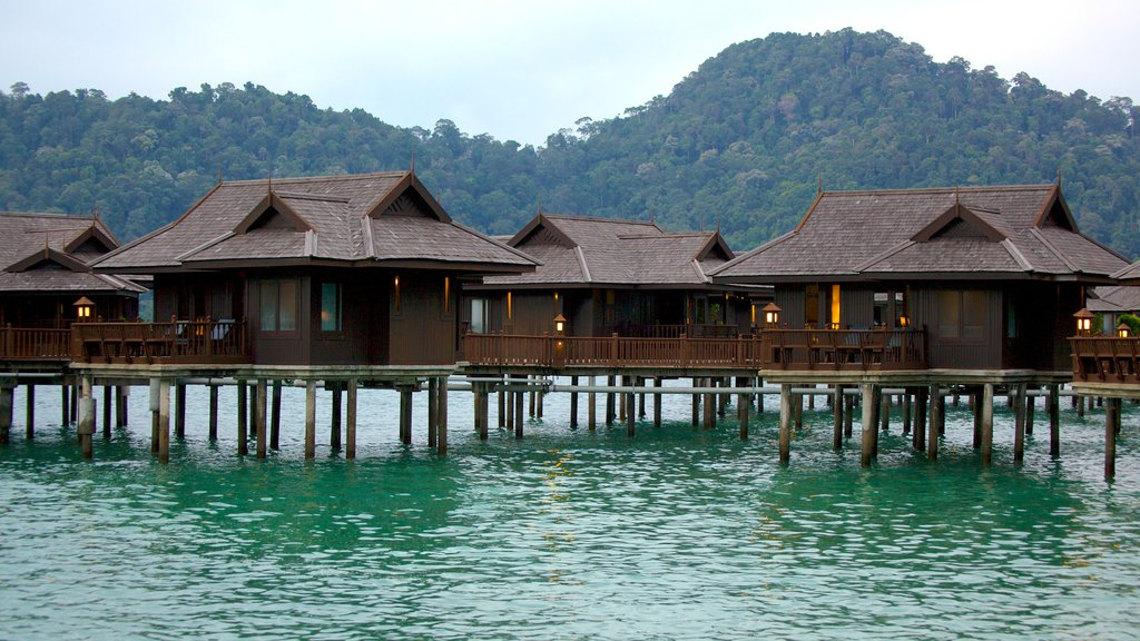 Pangkor Laut featuring a luxury hotel or resort and general coastal views