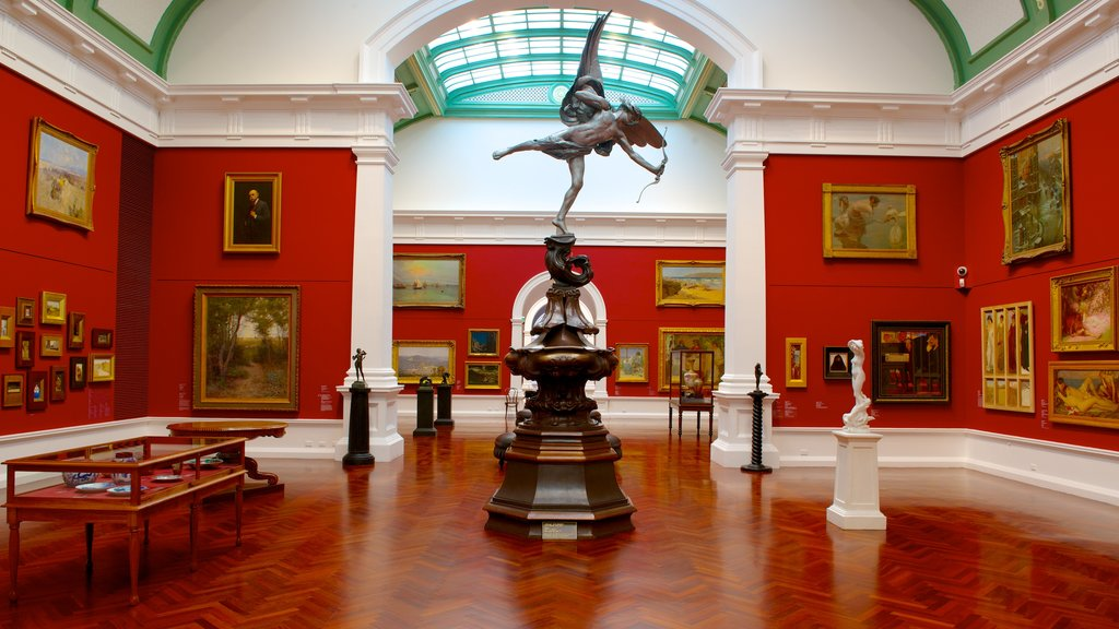 Art Gallery of South Australia which includes art and interior views