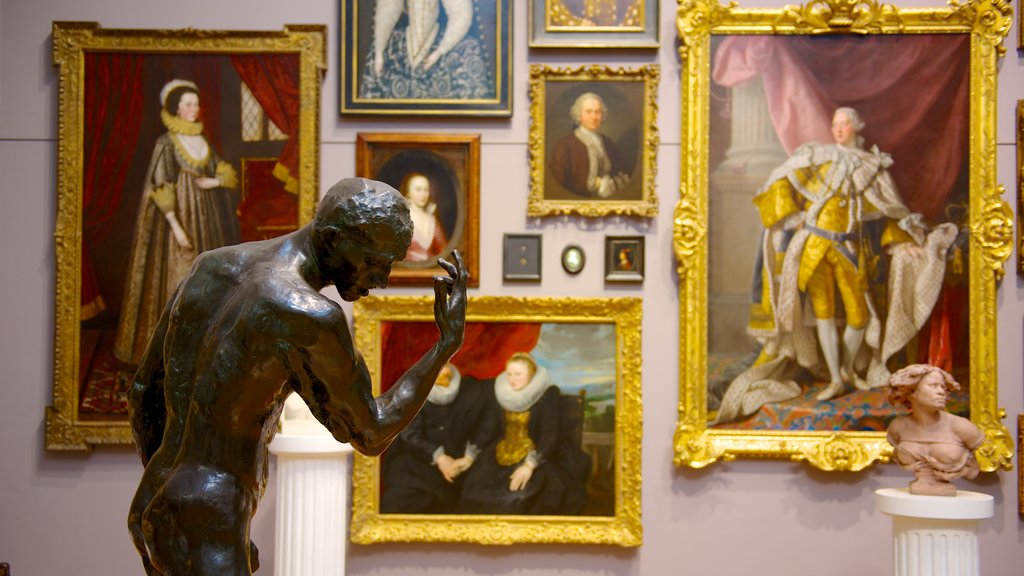 Art Gallery of South Australia featuring a statue or sculpture, interior views and art