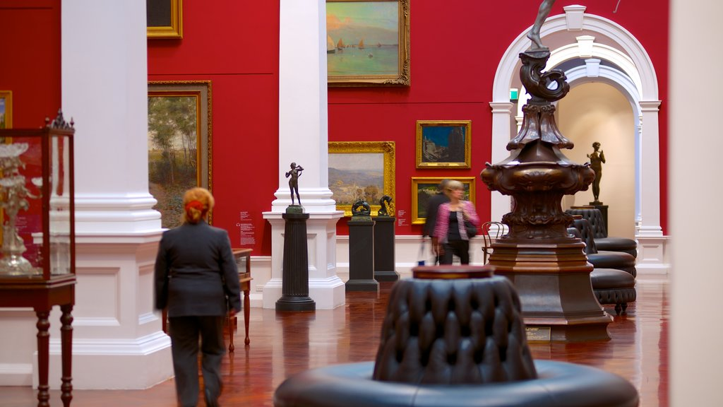 Art Gallery of South Australia which includes interior views and art