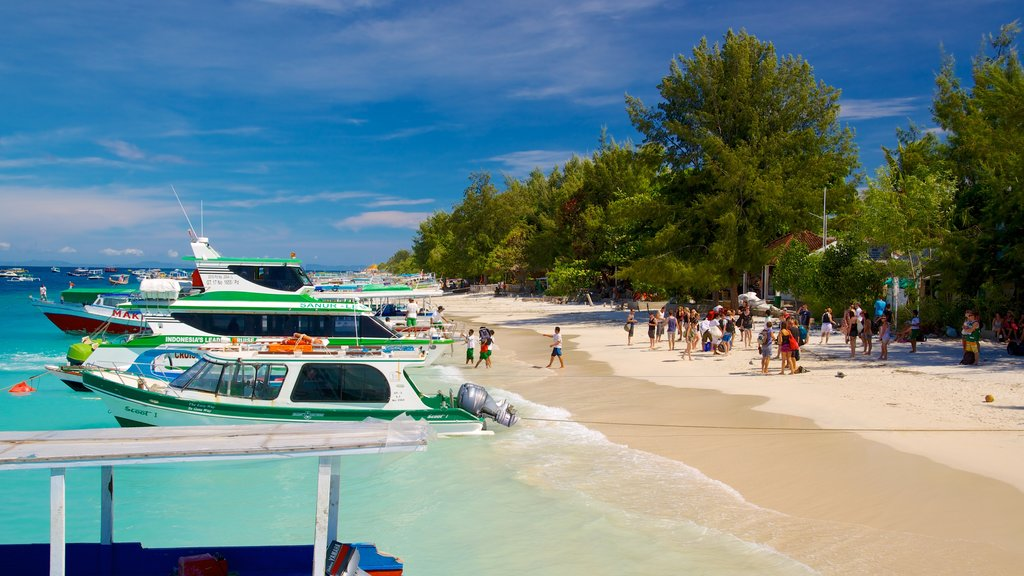 Lombok which includes boating and a beach