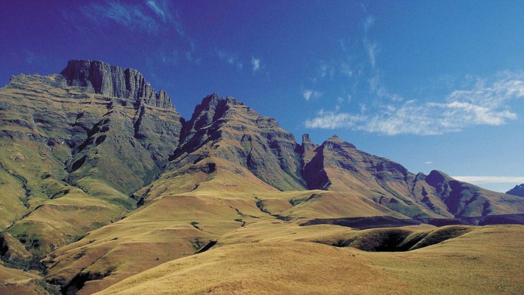 Drakensberg Mountains showing mountains and landscape views