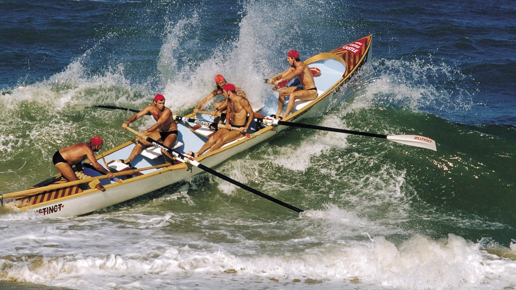 Durban which includes surf, a sporting event and general coastal views