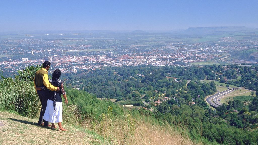 Pietermaritzburg which includes views, hiking or walking and a city