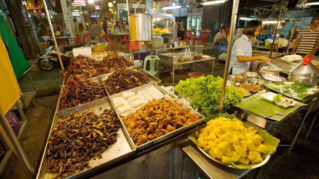 Hua Hin featuring food, markets and interior views