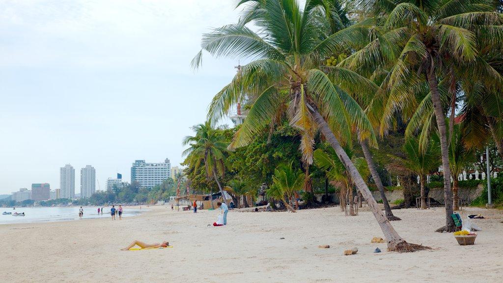 Hua Hin showing a beach, landscape views and a coastal town