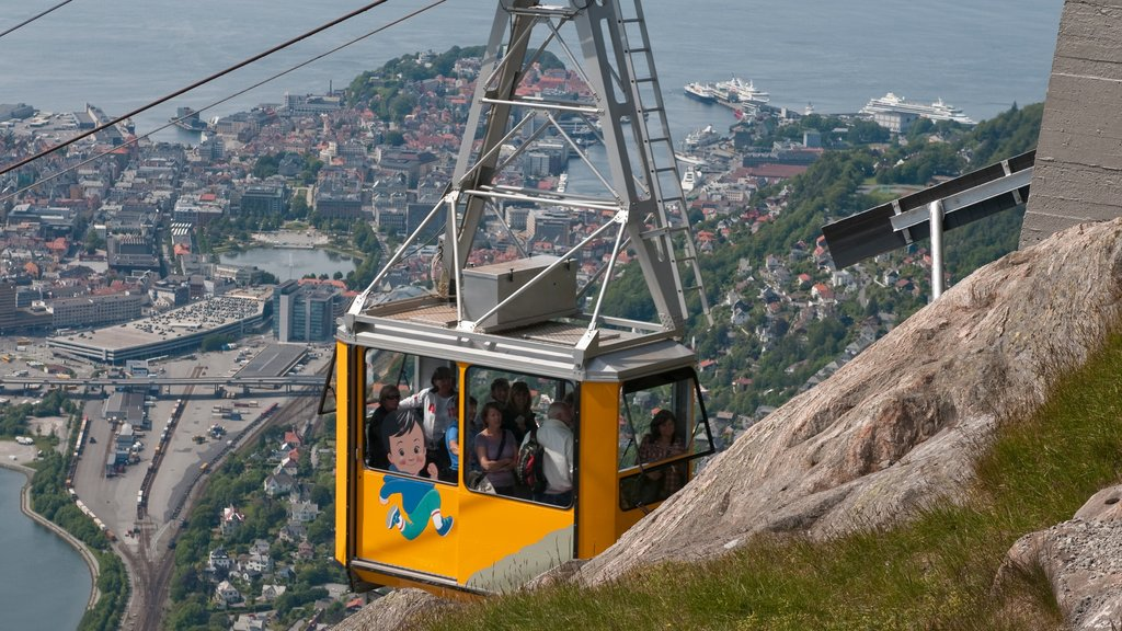Ulriken Cable Car showing a gondola