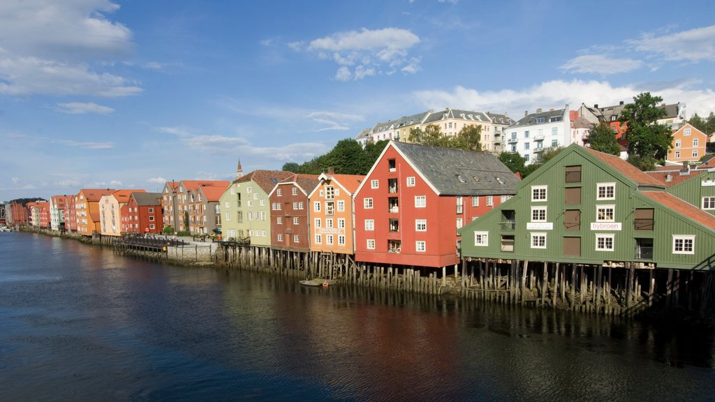Trondheim which includes heritage architecture, a coastal town and a house