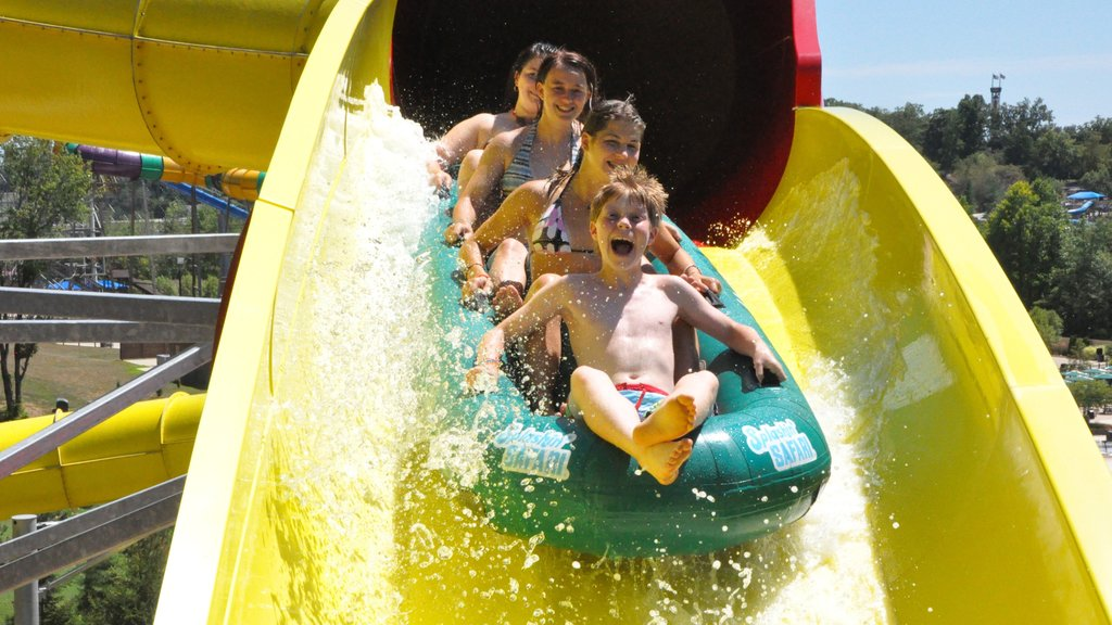 Holiday World and Splashin\' Safari which includes a waterpark as well as a small group of people