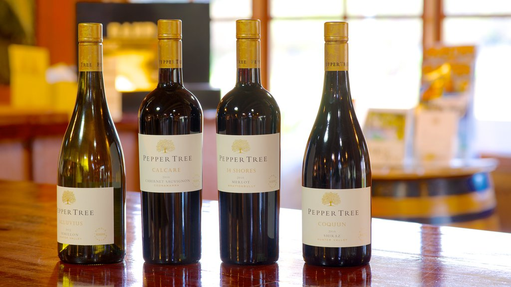 Pepper Tree Wines featuring signage and drinks or beverages