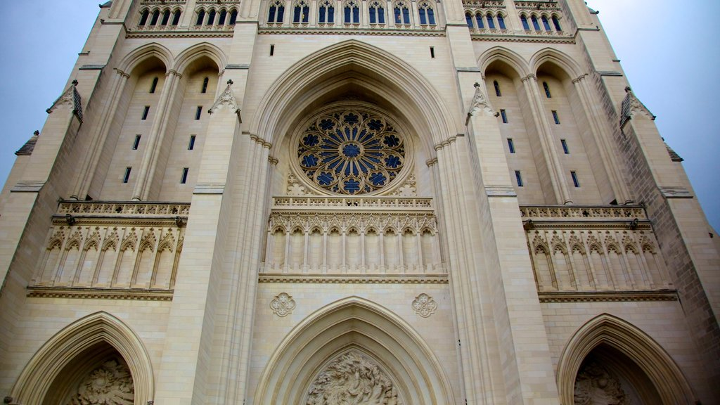 Washington National Cathedral which includes religious elements, a church or cathedral and heritage architecture