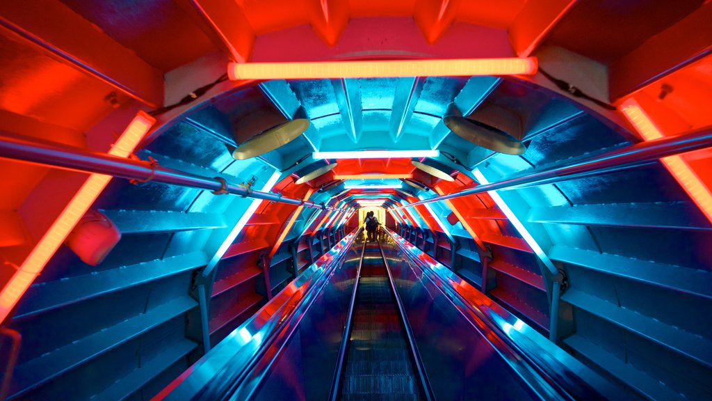 Atomium featuring interior views