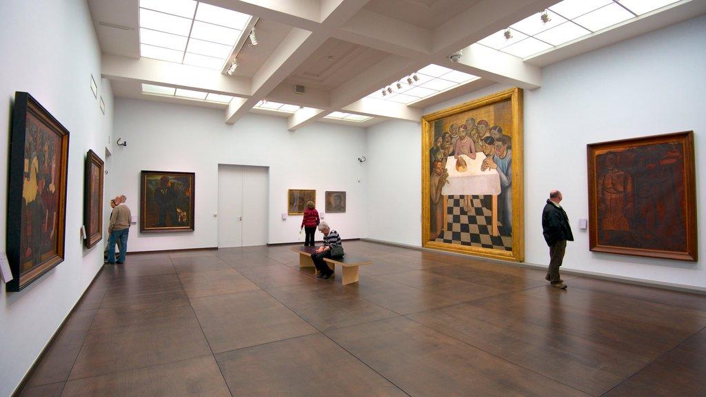 Groeningemuseum featuring interior views and art