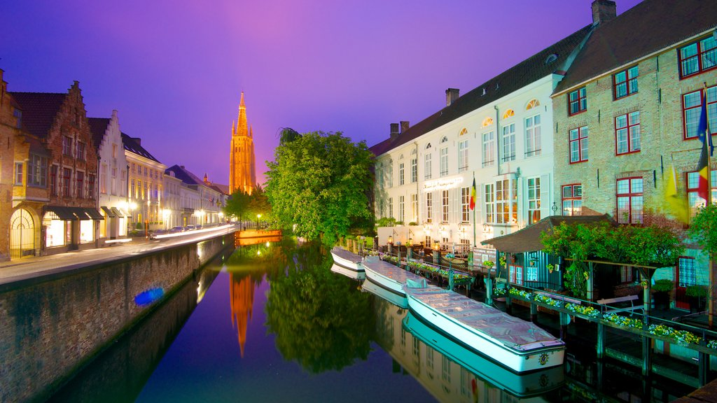 Bruges featuring a church or cathedral, a house and city views