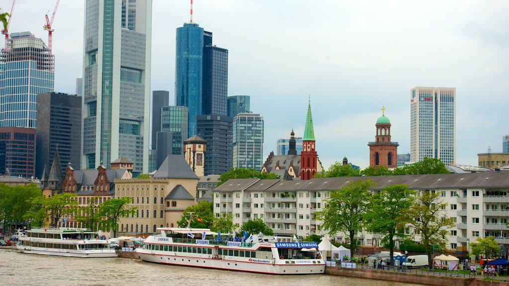 Frankfurt showing a city, a high-rise building and city views