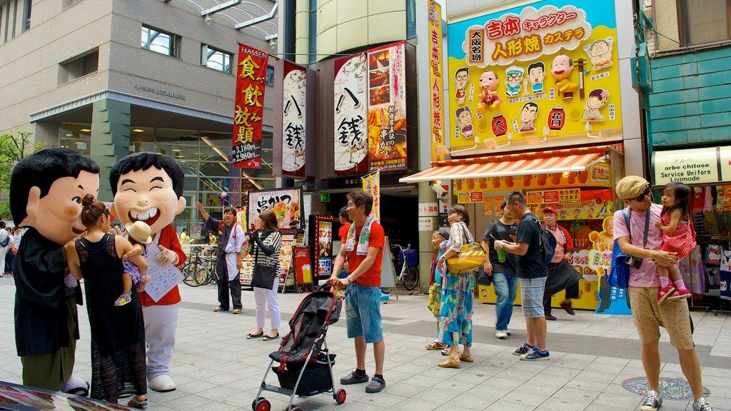 Namba Grand Kagetsu featuring street scenes, a city and shopping
