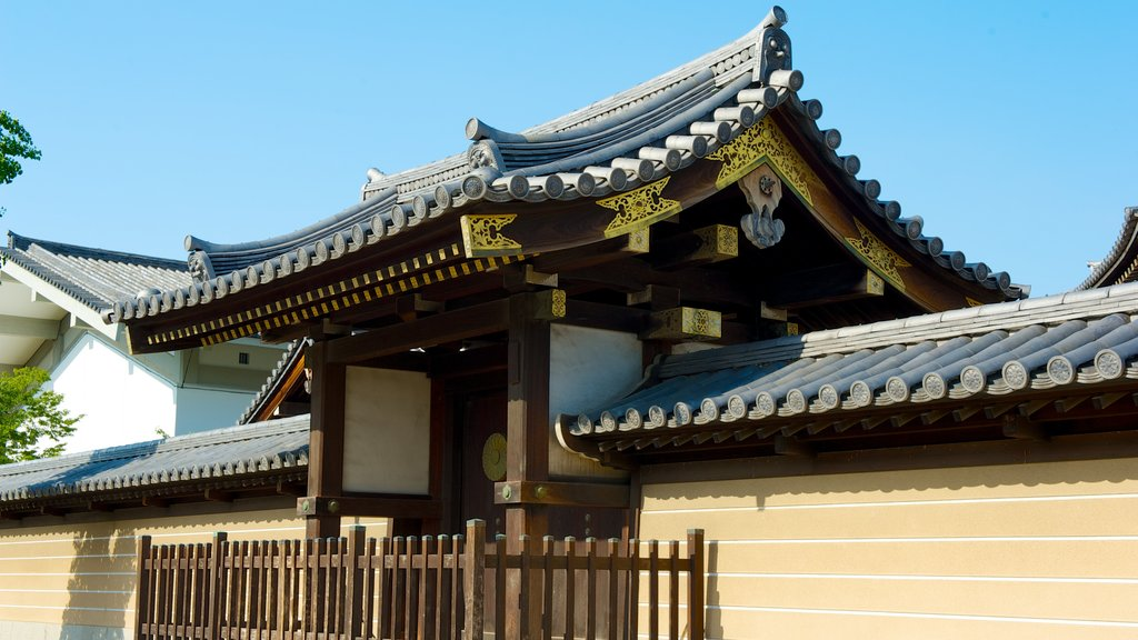 Shitennoji Temple which includes heritage architecture, religious elements and a temple or place of worship