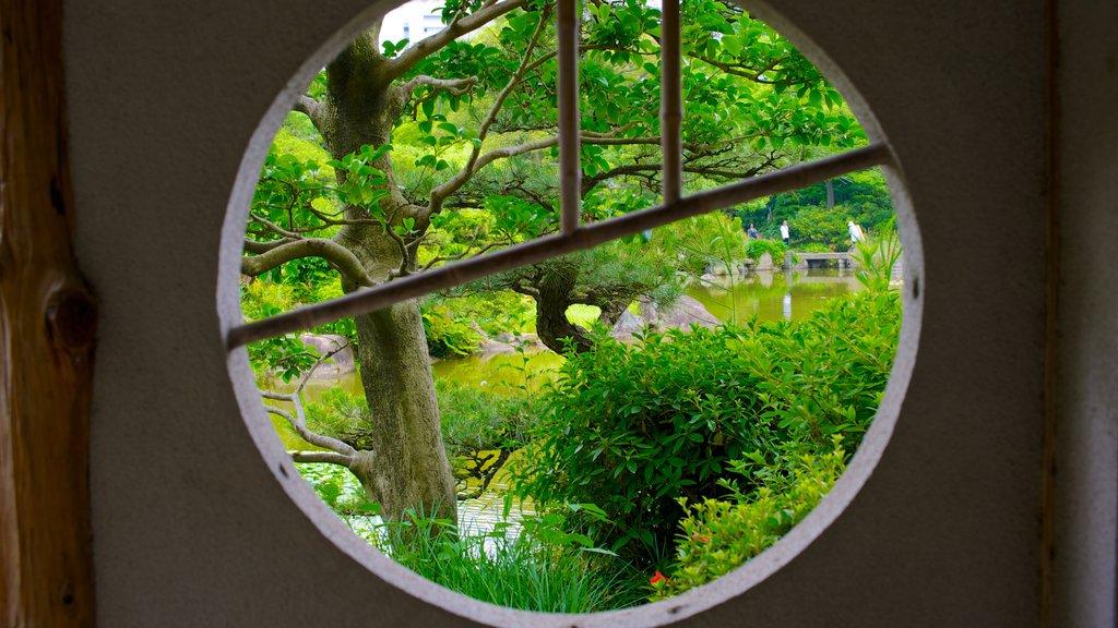 Tennoji Park which includes interior views and a garden