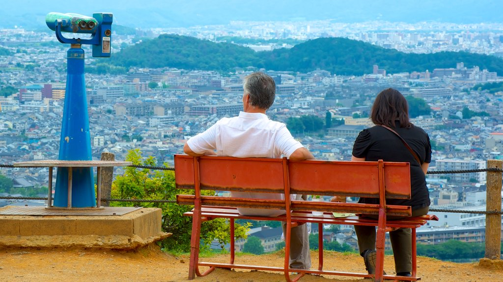 Arashiyama Monkey Park featuring a city, an observatory and views