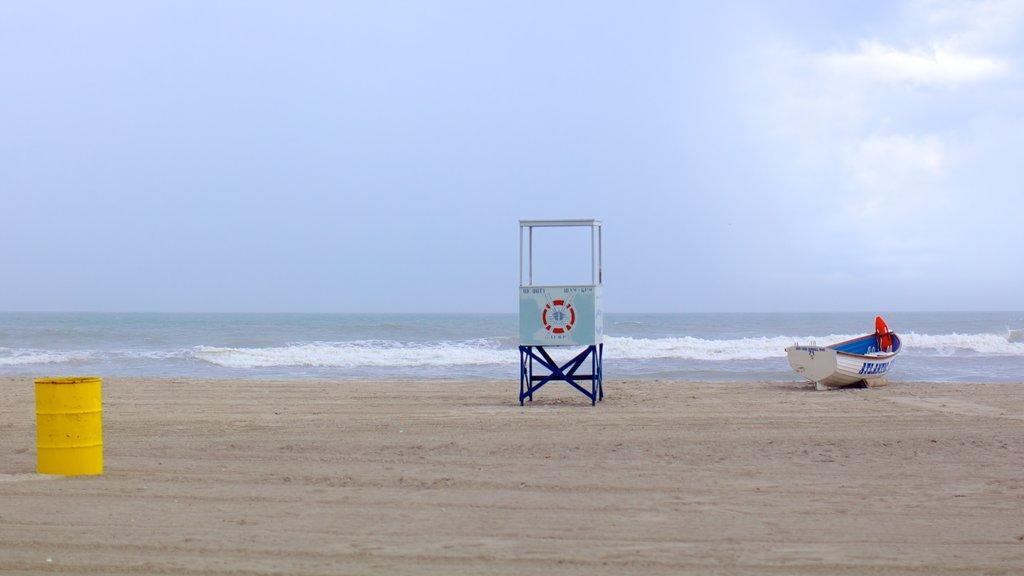 Atlantic City Boardwalk which includes a sandy beach