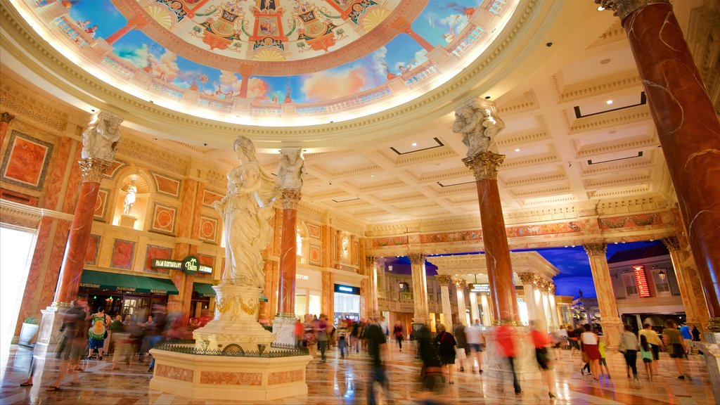 Las Vegas which includes a statue or sculpture, interior views and heritage elements
