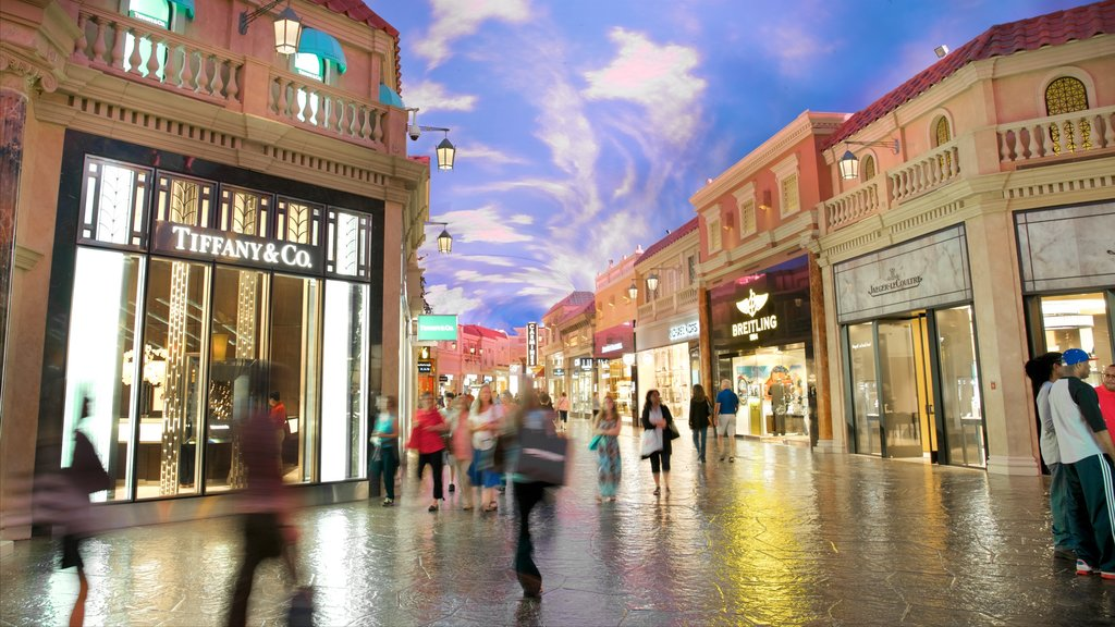 Las Vegas showing shopping, signage and interior views