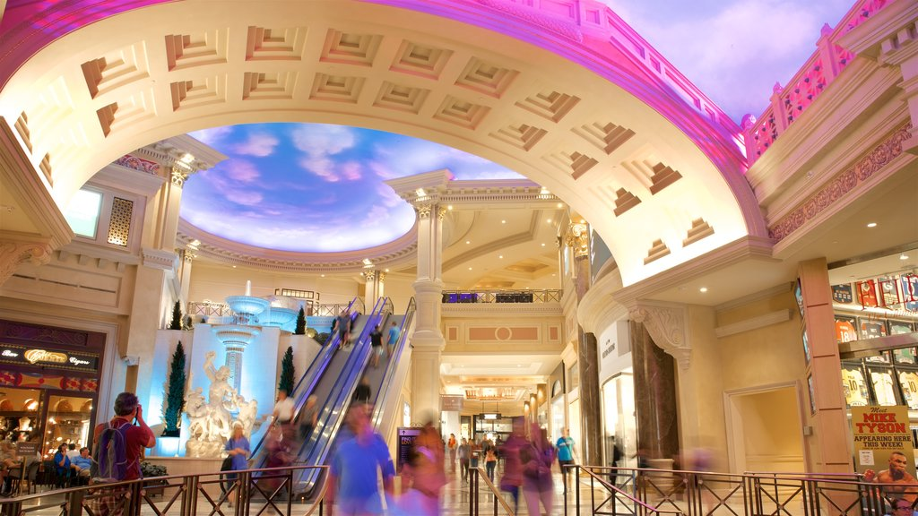 Las Vegas showing shopping and interior views