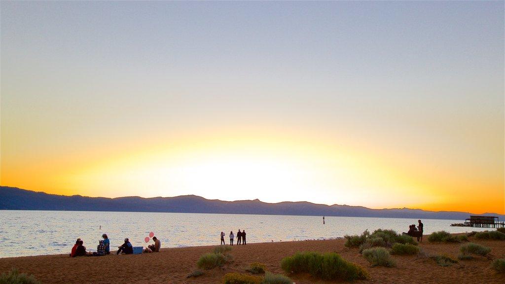Nevada Beach featuring a sunset, general coastal views and a sandy beach