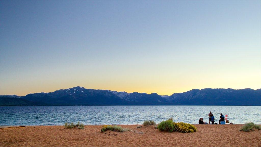 Nevada Beach showing general coastal views, a sunset and a beach