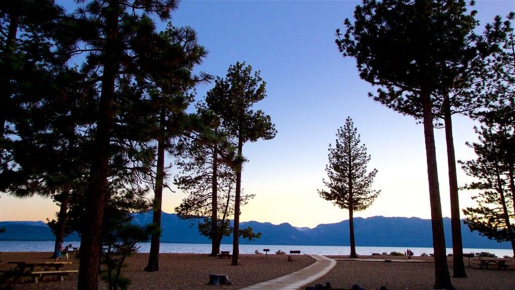 Nevada Beach featuring a beach, a sunset and general coastal views