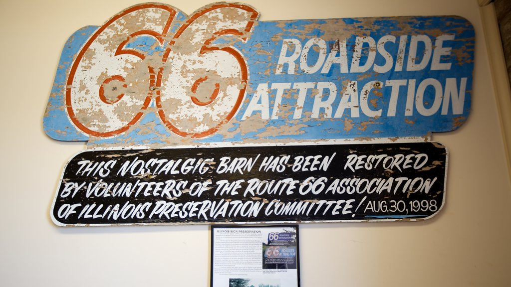 Route 66 Association Hall of Fame & Museum featuring heritage elements and signage