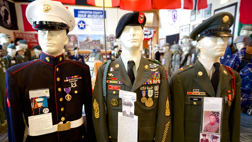 Livingston County War Museum featuring interior views
